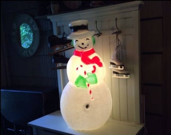 union products blow mold light up snowmanchristmas blow moldunion products incvintage blow mold yard decorationlight up snowman - Christmas Blow Mold