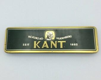 H.C. Kurz KG Nuernberg KANT Pencil Tin/Vintage Pencil Tin/Pencil Advertising Tin/Pencil Collector/German Pencil Tin/German Wooden Pencils