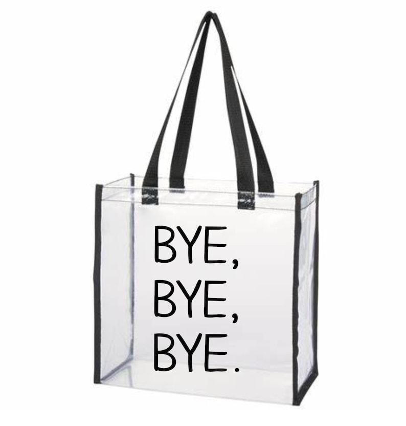 Gift Idea Clear Stadium Bag LOVE Custom Clear Tote Bag Stadium Bag Custom Stadium Bag Stadium Approved Tote Bag