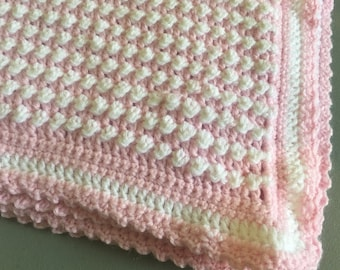 a74c18ef2836 Crocheted baby blanket