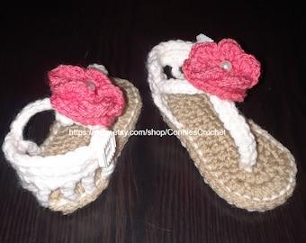 Baby Gladiator Sandals, Crochet Baby Sandals, Girl Sandals, Crochet Flip Flops, Choice of colors, Baby Summer Sandals, Handmade Sandals