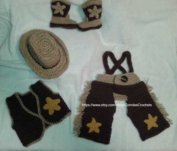 9eed4fce184 Baby Cowboy Outfit Photo Prop New Baby Baby Shower Set baby