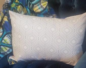 Pillow Sham Color-Me Geometric  - 100% Cotton - Coloring Pillow Cover - Travel Pillow Case
