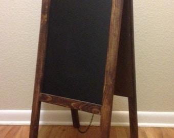 Rustic Chalkboard Easel Sandwich Board Double Sided A-Frame