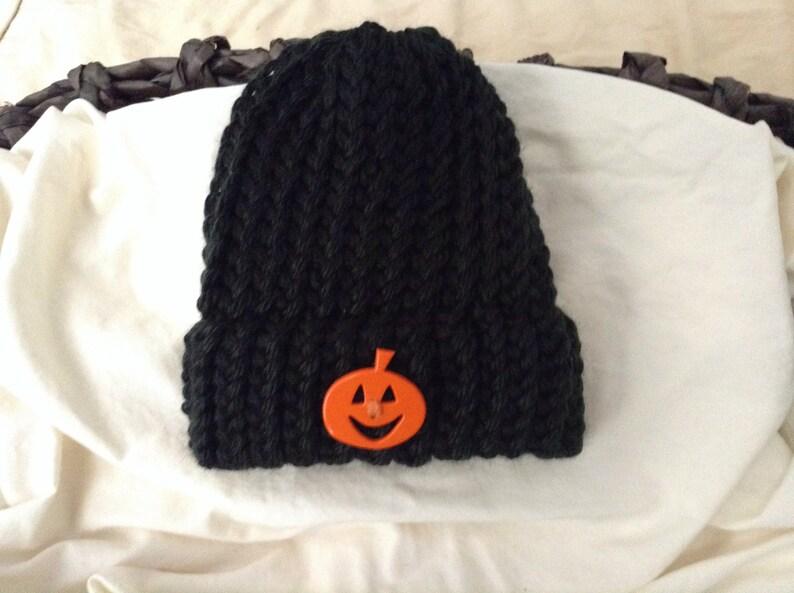 5d44ddd4748f5 Halloween baby knit hat, Newborn pumpkin beanie hat with rim,Pumpkin knit  baby hat, Halloween baby shower gift, Baby pumpkin knit hat