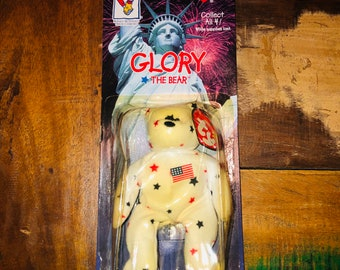 Rare MINT condition International Ty Beanie Baby Glory the Bear - Ronald  McDonald House Charities collection with 1993 ERROR! 40fee896b9c8