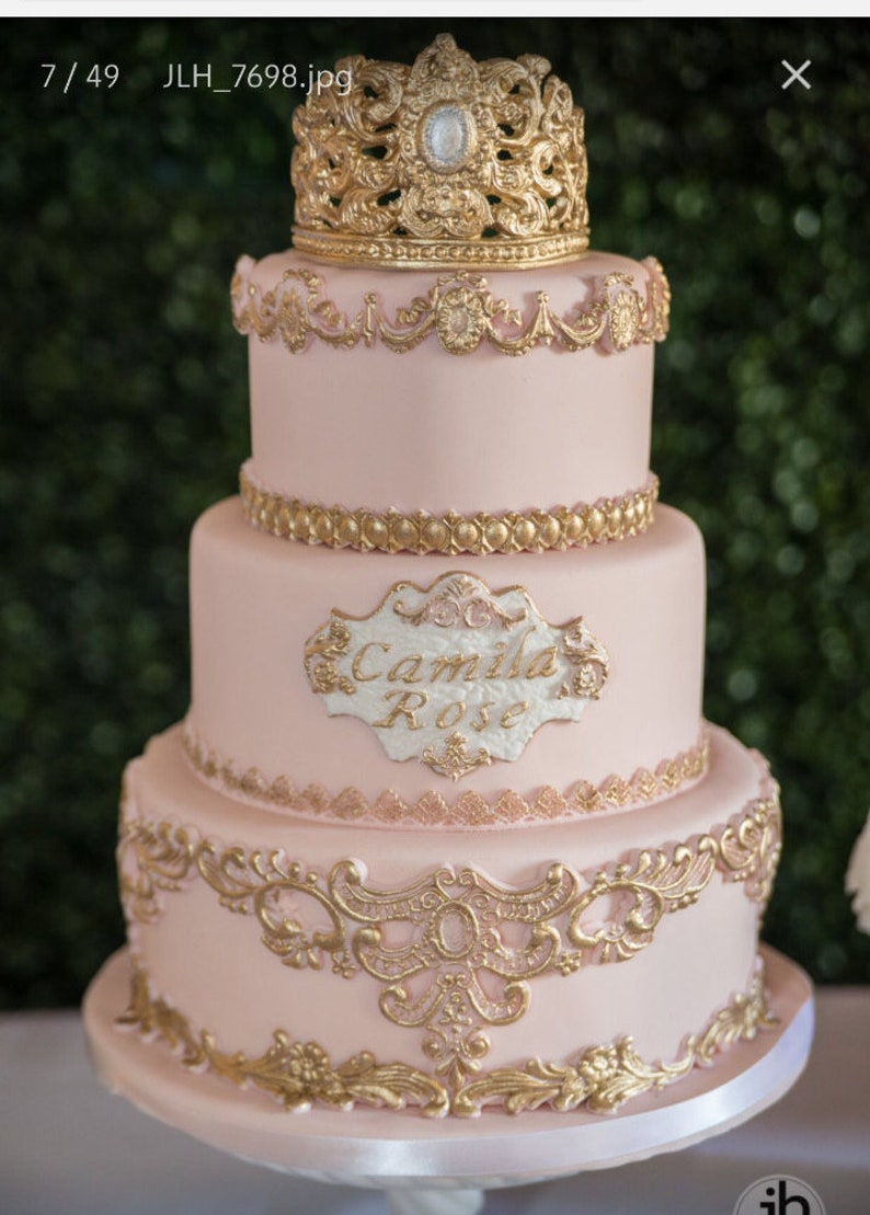 3 Tier Princess Fake Cake Covered With Fondant Dummy