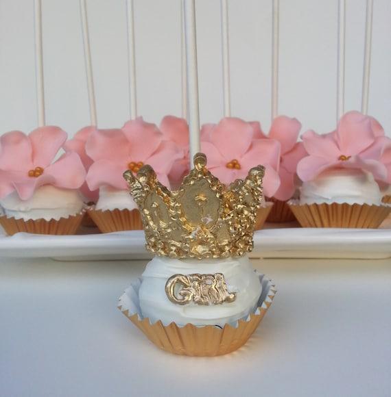 Fondant Cupcakes Tiaras For Princess Party 3D Royal Crown