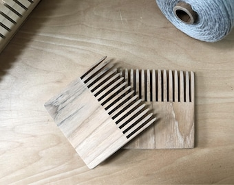 Weaving comb, weaving beater, weaving tool, tapestry tool, beater, comb, Hickory