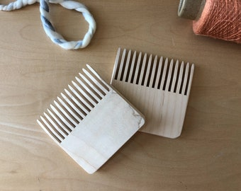 Weaving Comb, Weaving Beater, Tapestry Comb, Handcrafted, Maple