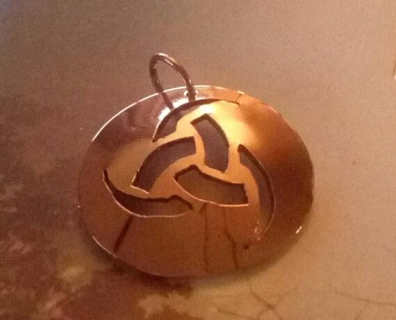 Odins horns pendant in copper