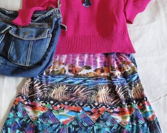 Dark Pink Fuchsia 100% Cotton V-Neck Pullover Sweater. Ladies XL, Men's Medium. FREE shipping in the US.