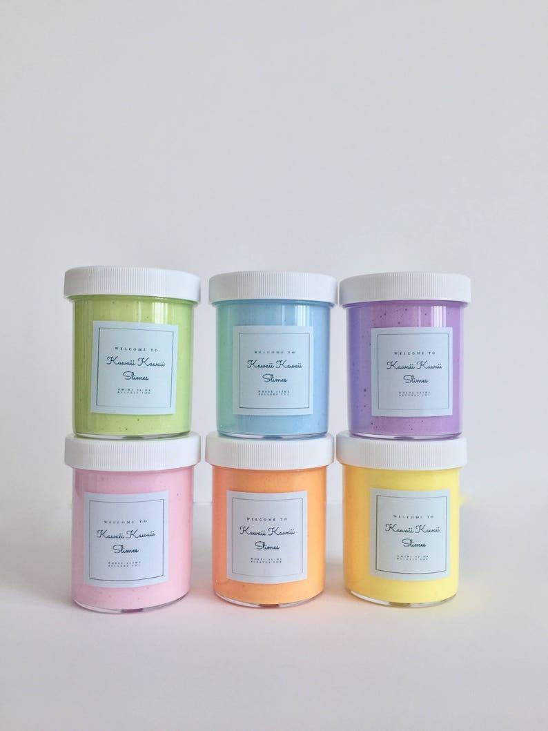 4oz Butter Slime with Free Gift Mini Panda or Emoji Squishy image 0