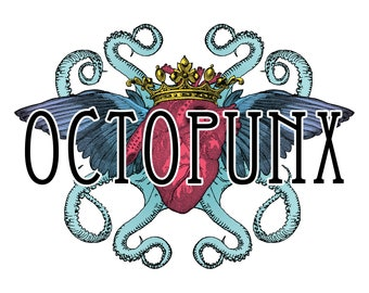 Octopunx Antiqued Blood Red Limited Edition Hand Painted Mix and Match Steampunk Goggles Your Choice of Lenses