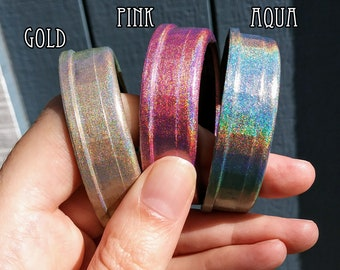 Octopunx Pink Holographic Limited Edition Hand Painted Mix and Match Steampunk Goggles Your Choice of Lenses
