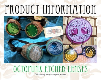 INFO Octopunx Etched Goggle Lenses - Information ONLY Do Not Buy This Listing