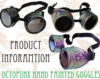 INFO Octopunx Limited Edition Hand Painted Goggles - Information ONLY Do Not Buy This Listing