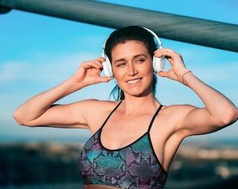 2in1 Sport Bras. Size S. Dance bras. Handmade. UV Protection