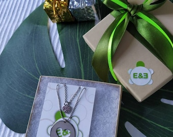 Necklace my perfect complement. Handmade. Love. Silver. Mother & Daughter Christmas Gift for her. Necklaces