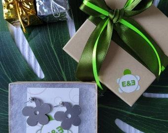 Margarita flower earrings. Handmade. hoop earrings Everyday earrings. Christmas Gift for her