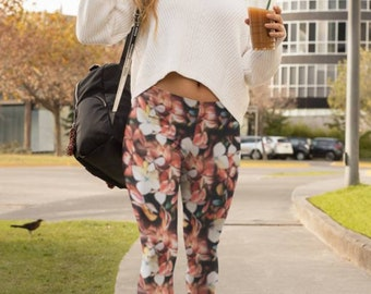 Warm Nature Yoga Pants. Workout leggings. Dance practice pants. Handmade. UV protection