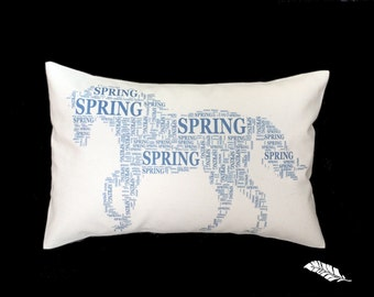 HORSE NAME pillow. Custom typography pillow with your horse's name, pet name pillow, horse lover