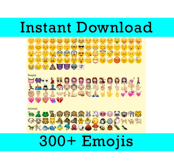300 Emoji Photo Booth Props Printable High Resolution Etsy