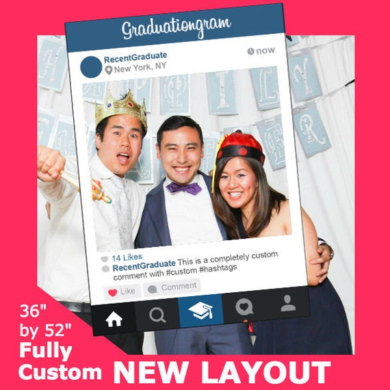 Graduation Fully Custom Social Media Photo Booth Frame For Etsy