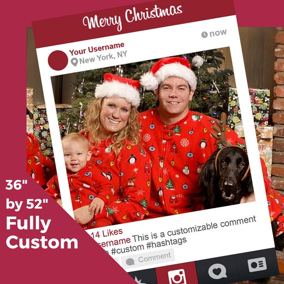 Customizable Christmas Instagram Photobooth For Cards Etsy