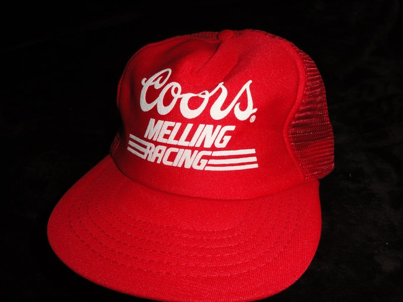 Vintage Coors Melling Racing Red Snap Back Snapback Hat Cap  f427d0cfc28