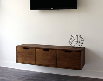Floating TV Console / Cabinet / Stand (that Can Be Used Also As An Entryway  Console) // Walnut