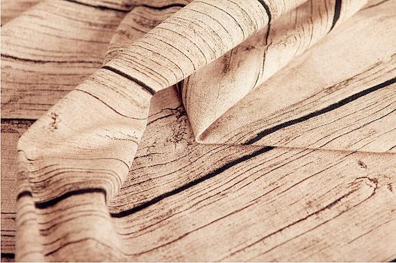 Vintage Wood Grain Linen Cotton Fabric Retro Tree Bark Fabric Etsy