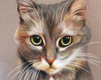 5x7, Pastel Pet Portrait, Cat or Dog