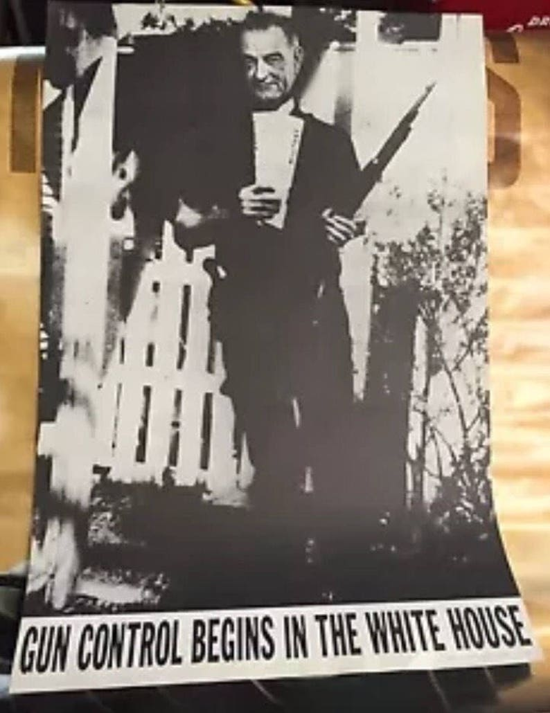 1967 LBJ gun control begins in the White House poster new old stock lee  harvey oswald