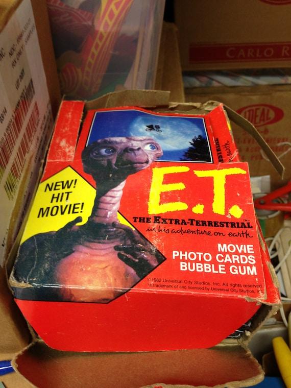THE EXTRA-TERRESTRIAL MOVIE PHOTO CARDS /& BUBBLE GUM CARTON E T