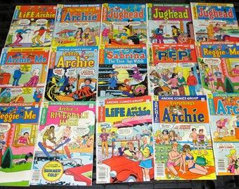Group lot of 10 original vintage Archie 35 cent Comics Great shape old stock fun 1970S-80S