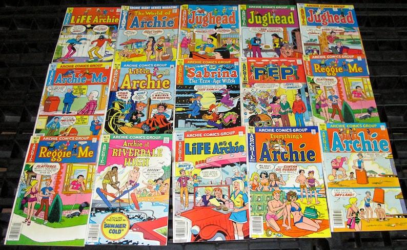 Group lot of 10 original vintage Archie 35 cent Comics Great image 0