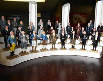 lot of 10 1960S Marx US president Figures assorted lincoln washington jfk grant hoover roosevelt+++