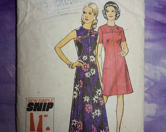 Style 4180 Day Dress 1970s Vintage Sewing Pattern Size 14