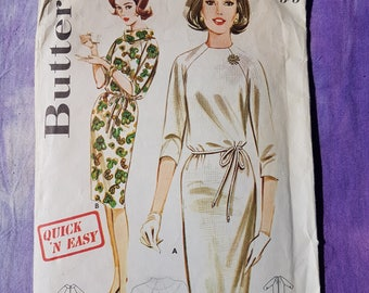 Butterick 2907  Shift Dress 60's Vintage Sewing Pattern In a Rare Size 16 Bust 36""