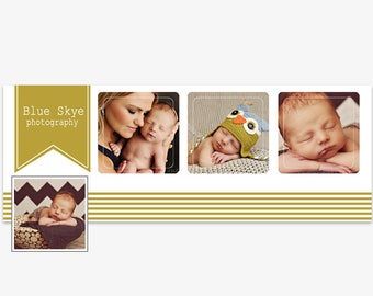 Facebook Timeline Cover Photoshop Templates, Facebook Header Template- For Photographers- PSD- Instant Download- FTB0104