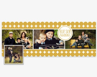 Facebook Timeline Cover Photoshop Templates, Facebook Header Template- For Photographers- PSD- Instant Download- FTB0103