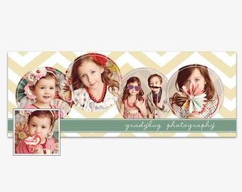 Facebook Timeline Cover Photoshop Templates, Facebook Header Template- For Photographers- PSD- Instant Download- FTB0101