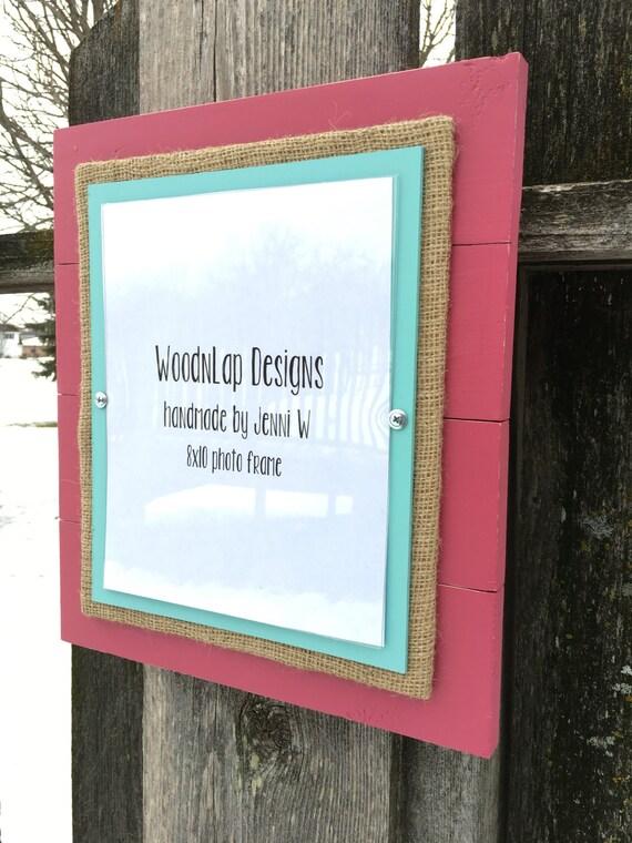 8 x 10 madera cuadro marco apenado Plank poco color de rosa | Etsy