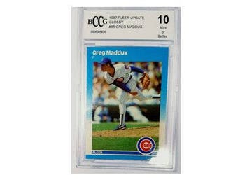 1987 Fleer Update #U68 Greg Maddux Rookie Card Graded BCCG 10