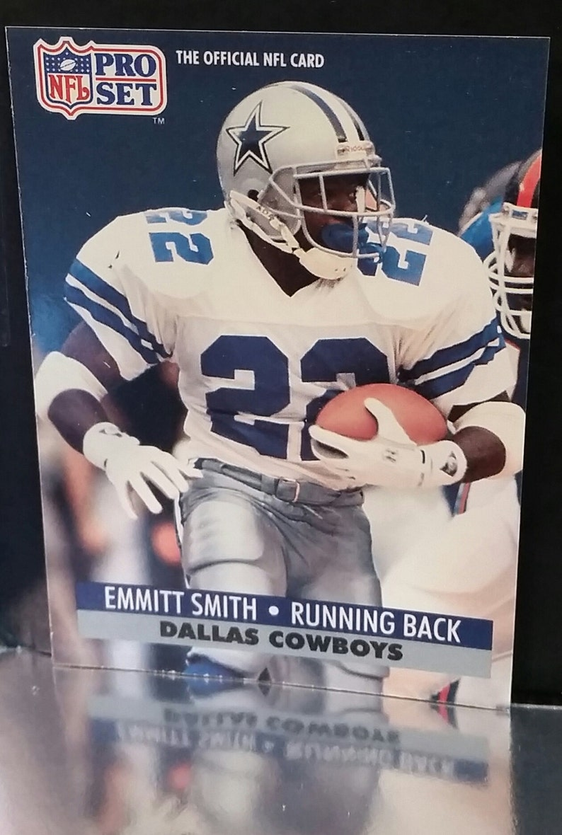 1991 Pro Set Emmitt Smith Rookie Card 485 Dallas Cowboys Running Back Rushing Dancing