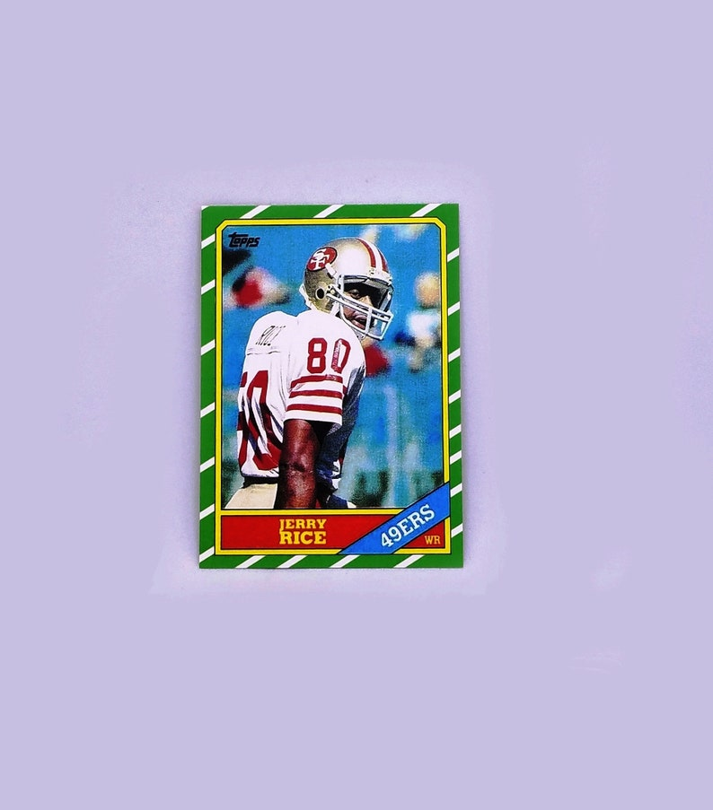 Sale Ends Soon 1986 Topps Jerry Rice Rookie Card 161 San Francisco 49ers Rc Read