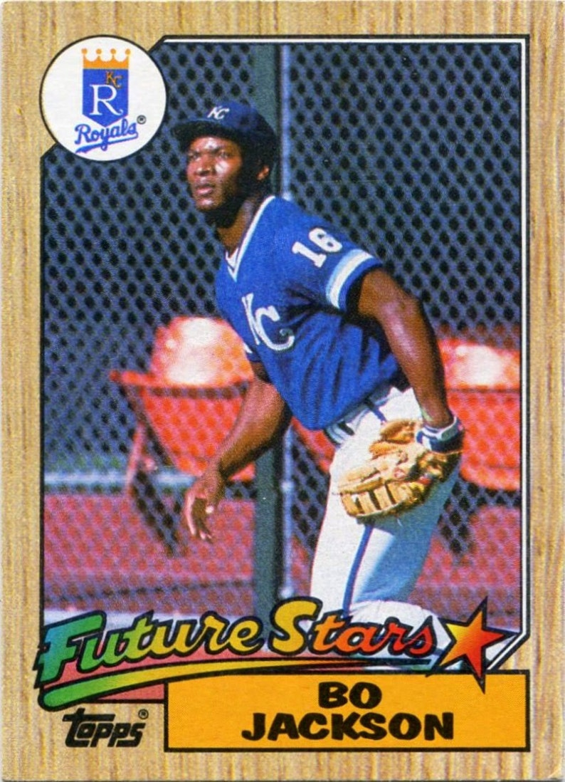 Rare Bo Jackson Rookie Card 170 Royals Incredible Condition This Card Is A Keeper