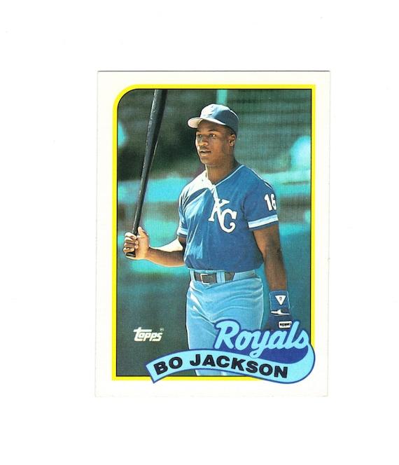 Kansas City Royals Baseball Cards 1988 Topps 750 Bo Jackson