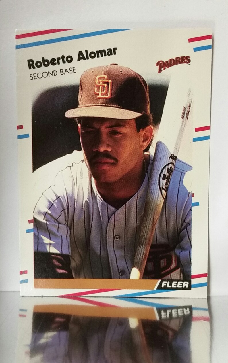 1988 Fleer Update U 122 Roberto Alomar Rookie Card 2nd Base Padres Mint